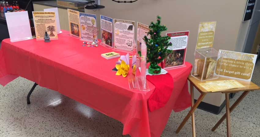 Holiday Observances Trivia table
