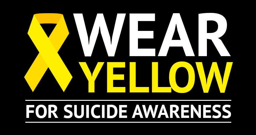 Wear Yellow for Suicide Awareness
