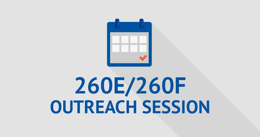 Outreach Session: 260E