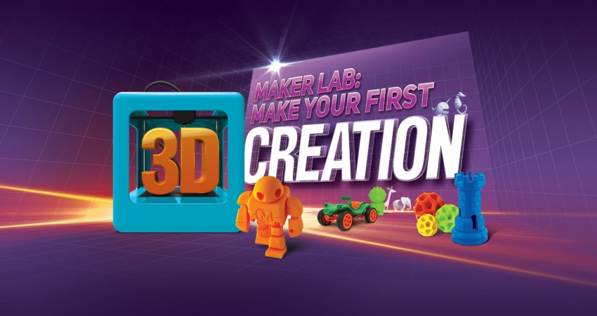 Maker Lab: Make Your First 3D Creation Camp (ages 11–14)