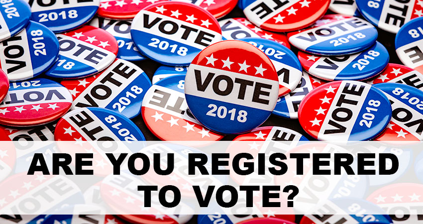 Are you registered to vote?