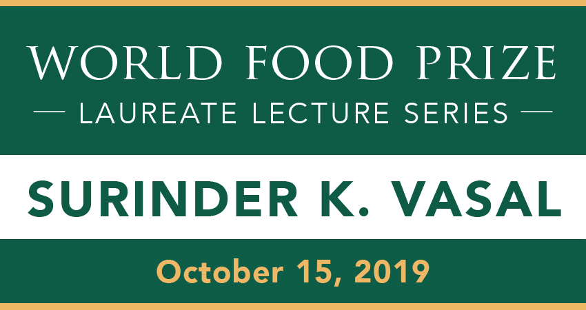 World Food Prize Lecture Series