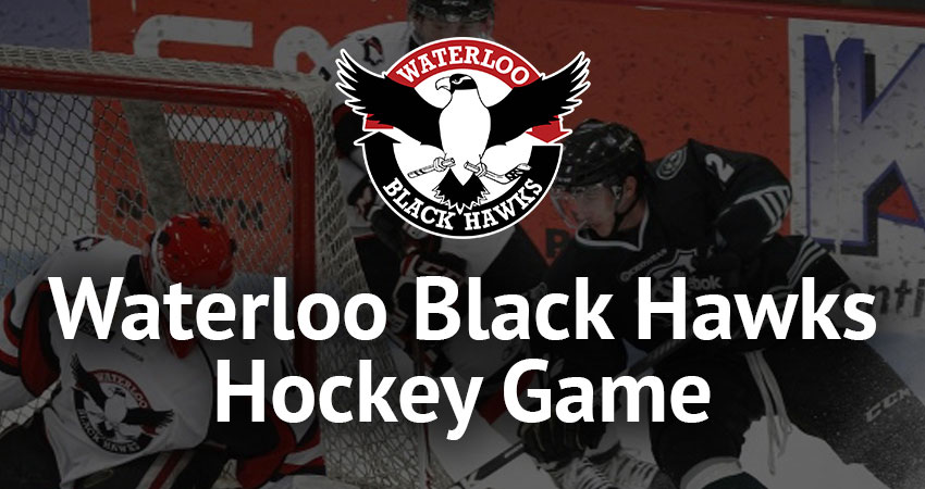 Waterloo Black Hawks Hockey Game