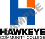 Hawkeye's new 3-color stacked logo